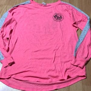 Pink Victoria Secret Long Sleeve Top Size Small